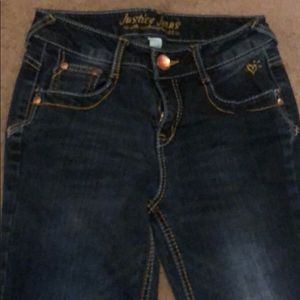 Justice Bottoms - JUSTICE Boot Leg Blue Jeans, girl's sz 14S